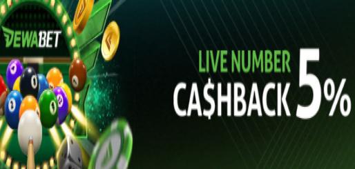 DEWABET LIVE NUMBER 5& CASHBACK